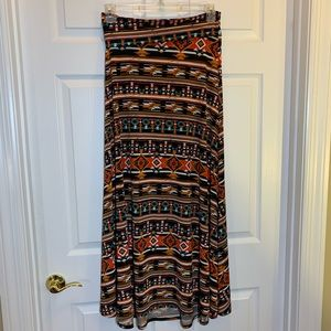 LuLaRoe Maxi Skirt Doubles /Strapless Dress Size S